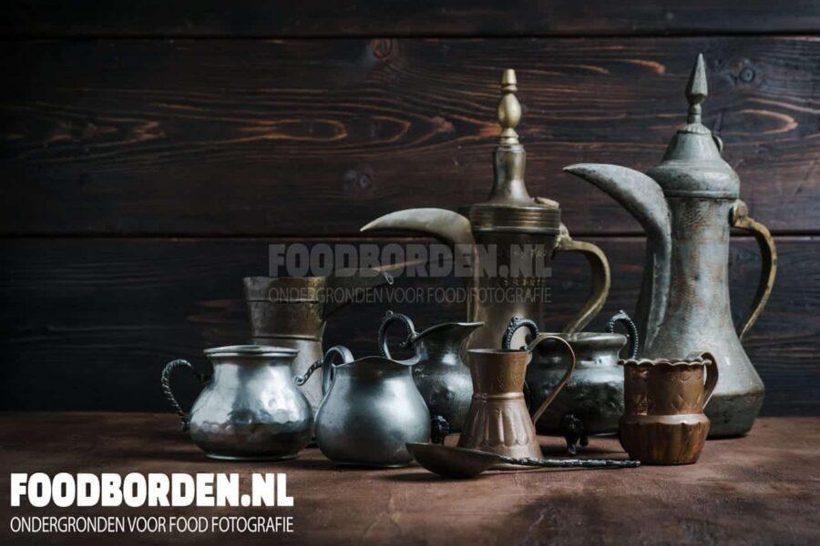 achtergrond en ondergrond food fotografie donkerbruin hout